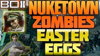 "BO2 ""Nuketown Zombies All Easter Eggs Explained + Moon Map Secret Black Ops 2"