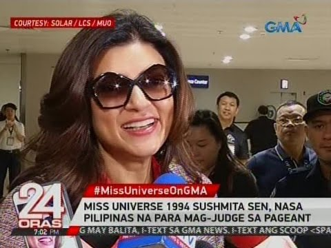 24 Oras: Miss Universe 1994 Sushmita Sen, nasa Pilipinas na para mag-judge sa pageant