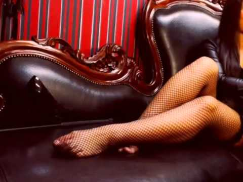 Women In Fishnets Tights On - Light Video