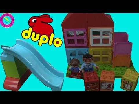 😻Lego Duplo Xây Nhà Và Máng Trượt  (Bí Đỏ)   😻Lego Duplo My First Play House