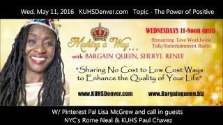 POWER OF POSITIVE - Making a Way w/Bargain Queen  FULL SHOW