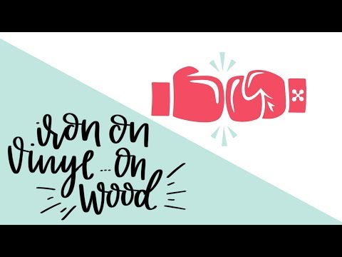 How to use Iron on Vinyl on Wood to make wood signs - cricut vs silhouette series