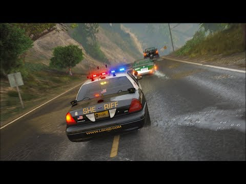 LSPDFR - Day 665 - Plane crashes into Tongava Valley Hills
