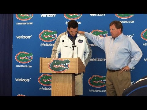 Gators QB Will Grier tears up discussing his suspension