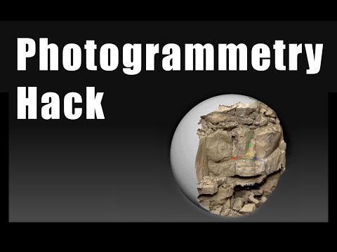 Zbrush Booleans Photogrammetry