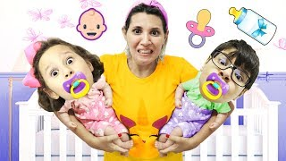 MÃE da Valentina Pontes vira babá  de dois BEBEZINHOS 👶 DE VERDADE !!!