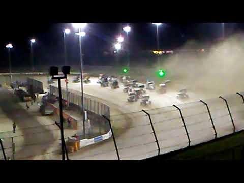 All star sprints 4 crown eldora speedway sprint car crash