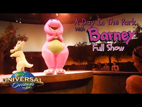A Day In The Park With BARNEY FULL SHOW Universal Studios Orlando Florida Islands Of Adventure