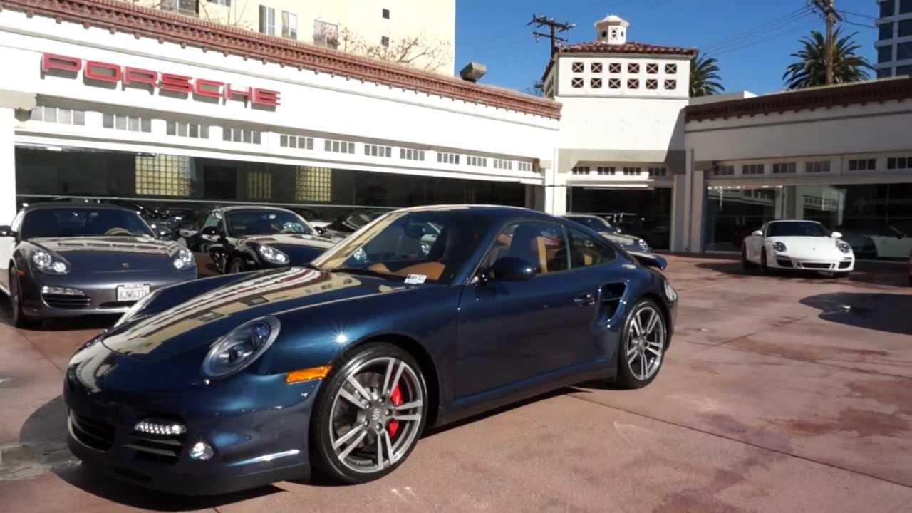 2010 Porsche 911 Turbo Coupe 3 8 Dark Blue Metallic Brown
