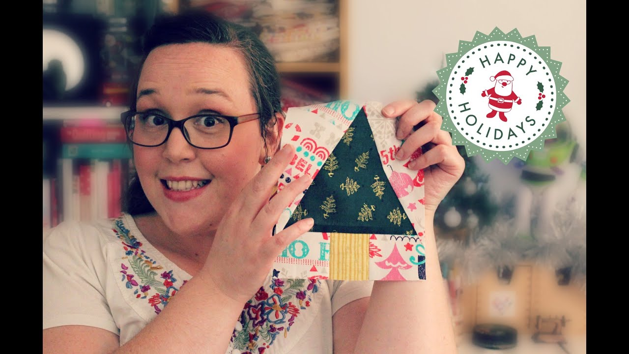 TUTORIAL: Paper-Pieced Christmas Trees