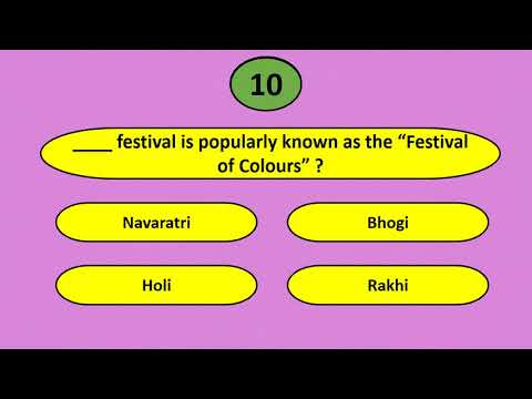 Indian Culture : Important Festivals of India