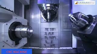 Fantastic CNC working process. Incredible factory machine