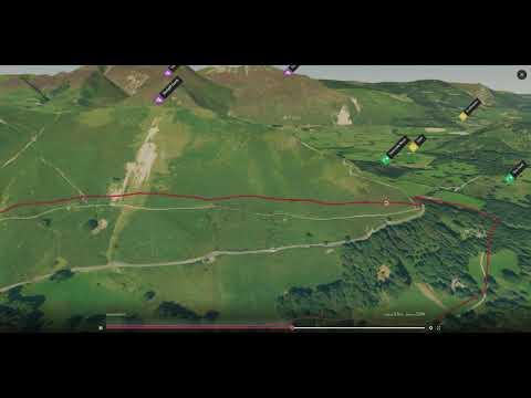 Derwent Water (North Western Lake District) - 3D Fly-through