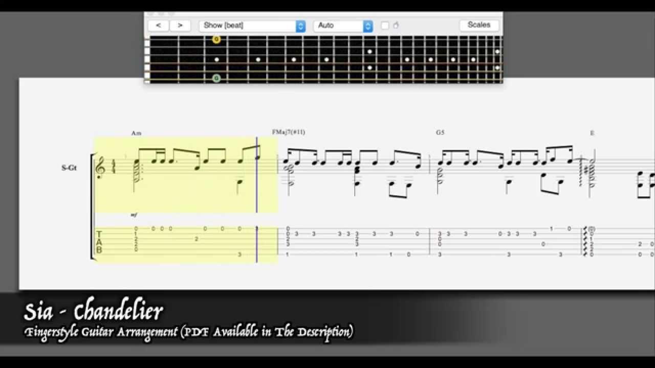 Sia - Chandelier [Easy Fingerstyle Guitar Arrangement - PDF ...