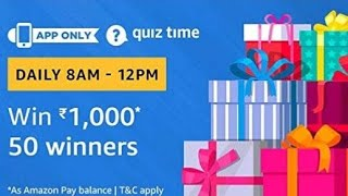 Amazon Quiz answers today| Win Rs.1,000| 22 February 2019