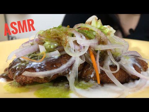ALOO TIKKI CHAT ASMR|INDIAN STREET FOOD EATINGSOUND | DETECTIVE BITES