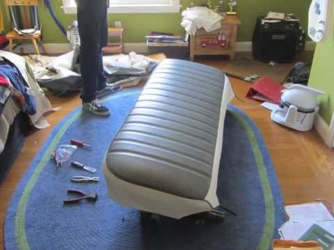 Reupholstering the Bench Seat