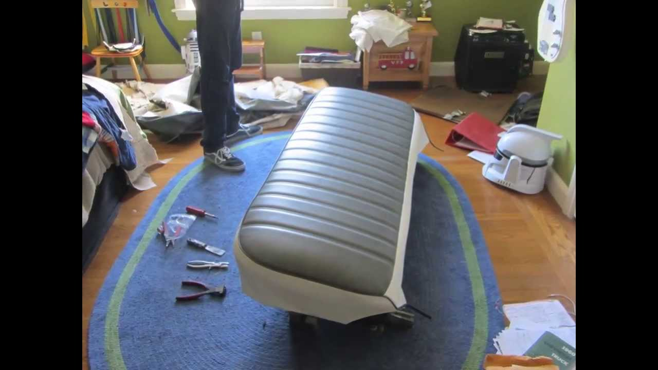 reupholstering the bench seat youtube. Black Bedroom Furniture Sets. Home Design Ideas