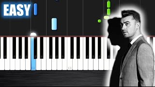 Sam Smith - Writing's On The Wall (from Spectre) - EASY Piano Tutorial by PlutaX - Synthesia