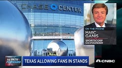 Texas to allow fans in stands at professional sporting events