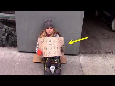 Als eine Obdachlose um Geld bettelt passiert etwas, dass niemand für möglich gehalten hat