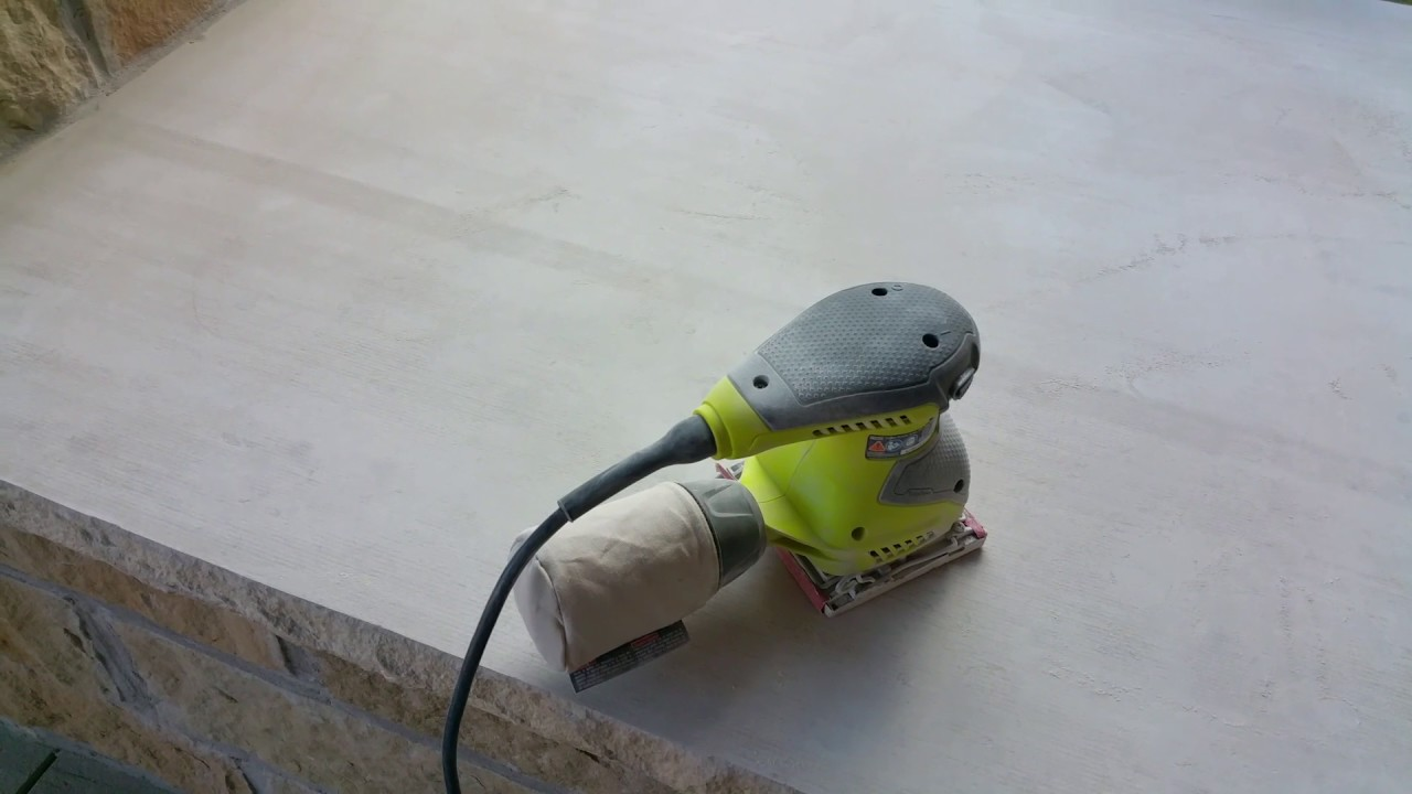 staining and sealing concrete on patio part 1 youtube