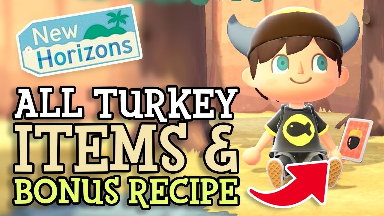 Animal Crossing New Horizons: ALL TURKEY DAY ITEMS and BONUS DIY RECIPE (ACNH Event Guide & Details)