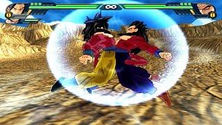 Goku SSJ4 and Gohan SSJ4 Fusion | Gokhan SSJ4 vs Broly SSJ4 | DBZ Tenkaichi 3 (MOD)