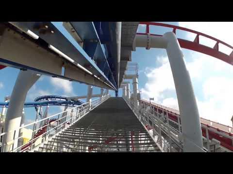 Singapore flyer | Time Lapse | Battlestar Galactica Roller Coaster | Universal Studios