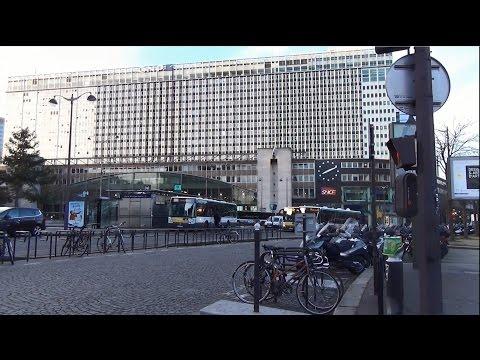 Paris ; Gare Montparnasse au lever du jour ; Capitale ; 360° ; Bus ; France