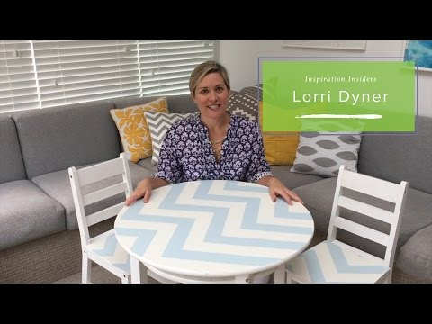 DIY: Transform a Playroom Table & Chairs with Removable Wallpaper| Lorri Dyner Design