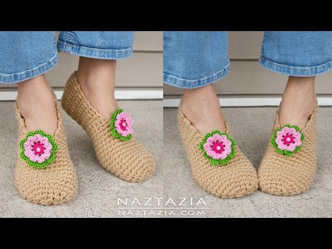 DIY Tutorial - Crochet Sweet Simple Slippers - Soft Shoes Bo