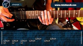 "Cómo tocar ""Paranoid"" de Black Sabbath en Guitarra (HD) Tutorial - Christianvib"
