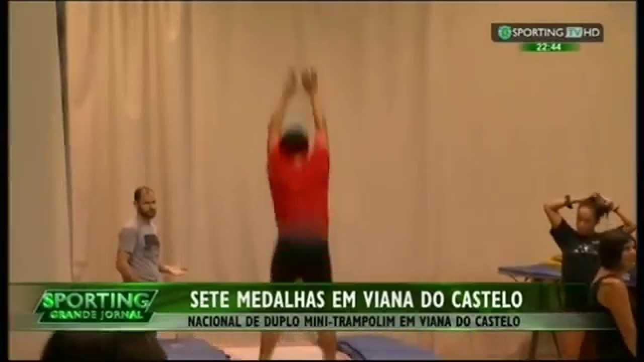 Ginástica :: Sporting alcançou 7 Medalhas nos nacionais de Duplo Mini-Trampolim em 2015