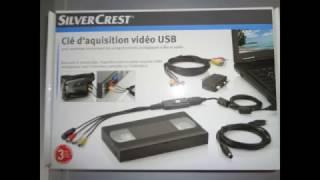 Tutoriel clé acquisition vidéo SilverCrest VidéoGrabber