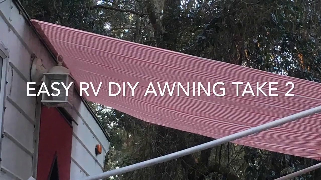 Easy DIY RV Awning for cheap! - YouTube