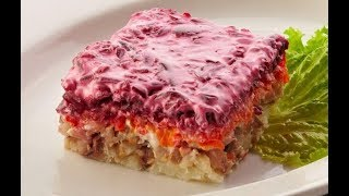Салат Селёдка под шубой - всегда вкусно легко и быстро! (не стандартный рецепт)