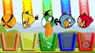Angry Birds Drink Water 2 - FULL SKILL GAME TAKE ANGRY BIRDS TO COLOR CUP OF WATER!