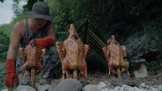 Roast Duck Recipe Chiฑese Style | Catch & Cook Bushcraft Camping