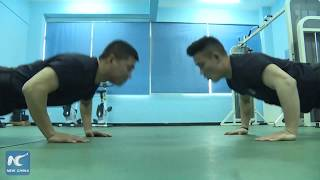 Strength training for China's railway SWAT teams