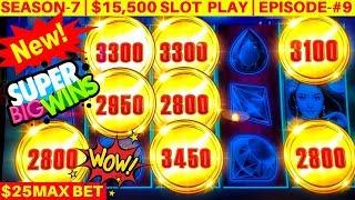 New Silk Moon High Limit Slot Machine MASSIVE WIN - $25 Max Bet Bonus | SEASON-7 | EPISODE #9