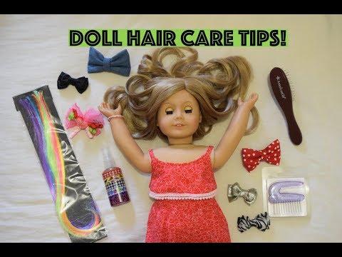 HOW I ORGANISE MY AMERICAN GIRL DOLL HAIR STUFF + DOLL HAIR CARE TIPS!