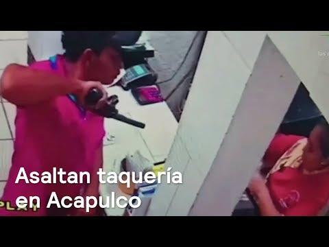 Asaltan negocio a mano armada Acapulco - Las Noticias con Danielle