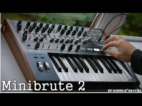 Arturia Minibrute 2 'one synth' multitracked recording