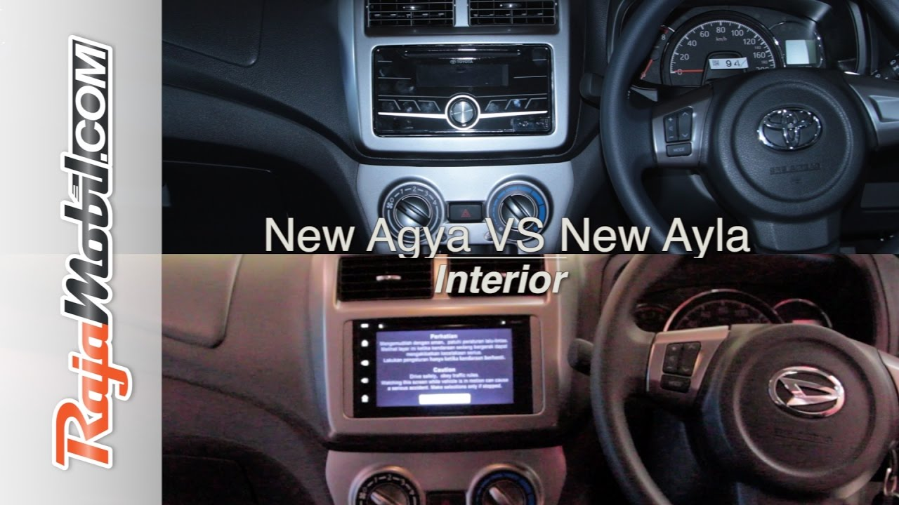 Ayla 2020 VS Agya 2020 Interior IntipMobil by