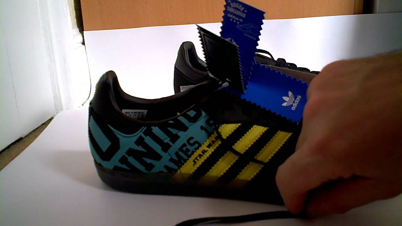 best website 2ec73 53a02 adidas originals star wars samba trainers unboxing review