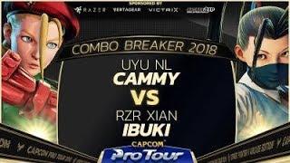 UYU NL (Cammy) vs. RZR Xian (Ibuki) - Combo Breaker 2018 - Grand Finals - SFV - CPT 2018