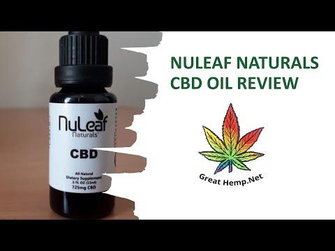 💯 Nuleaf Naturals 725mg CBD Oil Review 2019