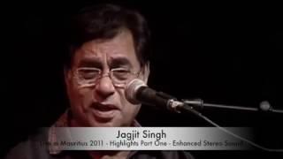 Jagjit Singh Live In Mauritius --Tere Aane ki jab Khabar Mehke with stereo HD sound