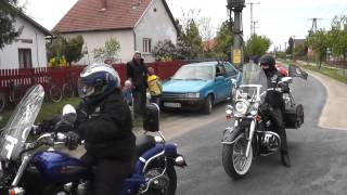 HajdúGárda - Gárdamotorosok bevonulása Nádudvaron